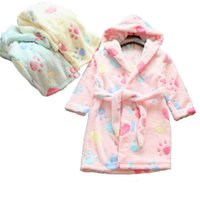 Wholesale 16 fall Girls flannel Nightgown bathrobe comfortable pajamas bathrobe colors sizes