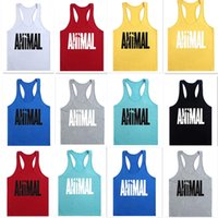 Wholesale Gym Vest Mens Sleeveless Shirt Bodybuilding Stringers Tank Top Fitness Singlets Sport Undershirt Sport Clothes Cotton Tops D630
