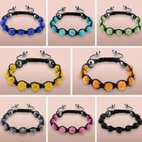 Wholesale mm black White Mixed multi mix Rhinestone Crystal Shamballa Bracelets jewelry bracelet for men women