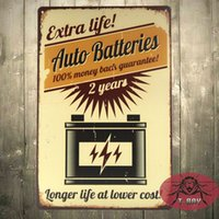 Wholesale Vintage posters Longer life at lower cost the Auto Batteries Classic Vintage Paper Wall Poster H