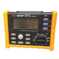 Wholesale PEAKMETER PM5910 Digital RCD Loop Tester With Auto Power Off Display Backlit Data Logging Low Battery Indication USB Interface