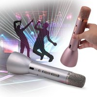 Wholesale Mini bluetooth Karaoke Player K088 K068 Wireless Condenser Microphone with Mic Speaker KTV Singing Record for Smart Phones Computer tablet