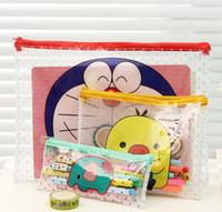 Wholesale cm Kawaii Cartoon Animals Zippers Document Bag File Folder Bag Filing Products K6927