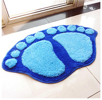 Wholesale new fashion Hot sale cm footprint carpet Cartoon Living room doormat non slip bathroom mats good rugs tapetes de quarto