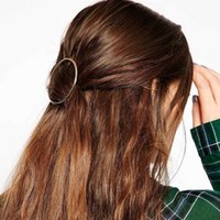 Wholesale New Unique Gold Silver Alloy Women Fashion Jewelry Brand Metal Hair Ring Bobby Pin hair Clip Hair Barrettes Hairpins Hair Styling Tools