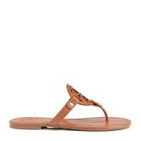 Wholesale Nubuck Leather Metallic Genuine Leather Brand Designer Women Miller Thong Sandals Summer Women Beach Sandals Famous Flip Fllops