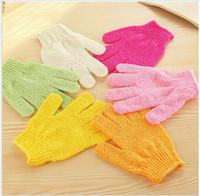 Wholesale Exfoliating Bath Glove Five fingers Bath Gloves Convenient and comfortable health mix color Bath towel