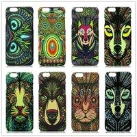 bears snow - For iPhone S S S Plus Luminous Animal Hard Case Tiger Owl Woodpecker Inugami Brown Bear Kitten Totoro Snow Wolf Leo Painted