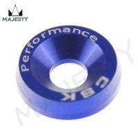 anodized aluminum screws - 8PCS M6 WIDE HEX SCREW BOLT BUMPER FENDER WASHER ANODIZED ALUMINUM BLUE Nuts amp Bolts Cheap Nuts amp Bolts