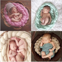 Wholesale Handwoven Soft Blanket Basket Stuffer Filler Newborn Baby Photography Backdrops Photo Studio Props Shower Gift