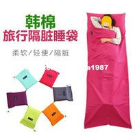 Wholesale Travel sleeping bag adult cotton super light envelope portable indoor hotel guest room