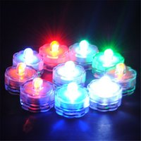Wholesale New Arrival Multi color Candle Lamp Party Wedding Decor Waterproof LED Submersible Tea Light Candle Decoration