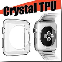 Wholesale For Apple Watch case Transparent Crystal TPU Ultra Rugged Armor Case cover For Apple Watch mm mm With OPP Package