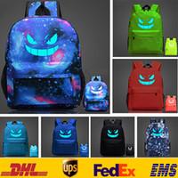 adult school bag - Fashion Poke Go Pikachu Galaxy Backpack Children Adult Cartoon Luminous School Bags Shoulder Bags XMAS GIFTS Style SC B01