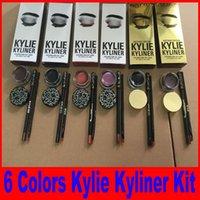 Wholesale Kylie Cosmetics brithday edition kylie kyliner eyeliner and gel Gel pot Brush liner types black brwon chameleon bronze
