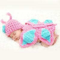 baby holiday hats - Newborn Crochet Baby Photography Props Crochet Hat Infant Newborn Baby Photo Props Kids Knitted Animal Hats Beanies Handmade Cap
