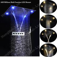 bathroom shower kits - luxury shower mm inox shower kits multi function remote control color change shower head set for bathroom