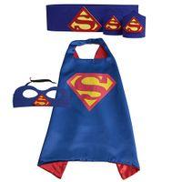 Wholesale Kids Superhero Capes Masks Waistband Wristband Batman Spiderman Superman Captain America for Kids Halloween Birthday Party
