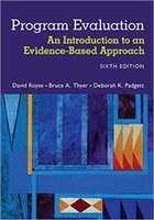 base book - New Book Program Evaluation An Introduction to an Evidence Based Approach th Edition ISBN