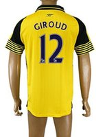 arsenal away shirt - Hot Popular Customized Thai Quality Arsenal away men GIROUD Soccer Jerseys Shirts Tops NEW men RAMSEY WILSHERE Soccer Jerseys