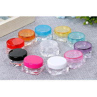 plastic cosmetic containers - Popular Screw Caps Clear Plastic Makeup Sub bottling Empty Cosmetic Container Small Sample Mask Canister
