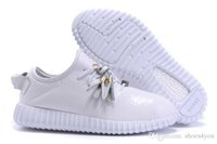 Wholesale 2016 brand Kanye West Good quality Boost Tai Chi Snakeskin Leather White Men s Sports Running Shoes Size