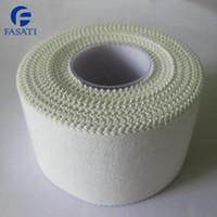 Wholesale 50pcs cm m white jagg sports tape applique bandage joint ankle support wound care surgical dressing bandage gauze shop