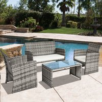 Wholesale outdoor rattan Wicker Sofa Furniture Set Piece Patio Rattan Furniture Set Cushioned Outdoor Garden Wicker Rattan furniture Patio Furniture