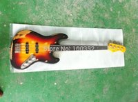 Wholesale quality factory custom relic strings old used vintage faded musical instrument electric bass guitar ebony fretless fingerboard