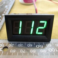 Wholesale DC green Voltmeter V for Electric Car v V V V V V V Panel Meter size x x mm