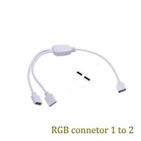 Wholesale 5pcs pin RGB led connector to port pin RGB female connect wire for RGB strip with Male Connectors