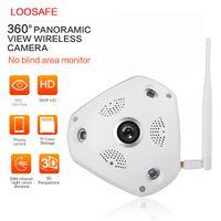 access control wireless - LOOSAFE p Wireless WiFi VR Security IP Camera Degree Panorama CCTV Fisheye Remote Control home Surveillance P2P IP Camera