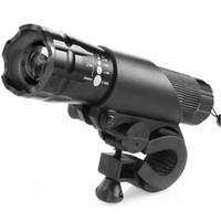achat en gros de zoom vélo léger-300 Lumens résistant à l'eau Q3 LED bicyclette lampe de poche Zoom réglable Zoom avant torche vélo lumière avec support de montage