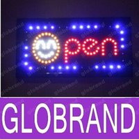 Wholesale 2016 hot sale custom led open neon sign size cm cm semi outdoor for the shop is opening GLO648
