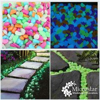 parterre - 100pcs Fish Tank Garden Parterre Decor Glow in the Dark Fluorescent Pebble Stone