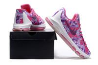 art cancer - KD VII Breast Cancer Mens Basketball Shoe KD7 PBJ Men Sports Shoes Men s Athletic shoes US7