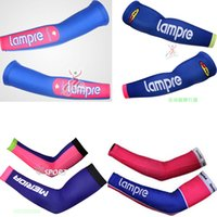 Wholesale cycling Arm Warmers LAMPRE MERIDA Outdoor Sport Two ice silk Arm Sleeve Bicycle Cuff Bike Ciclismo Prevent bask in Oversleeve
