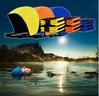 beginner swim - Float Helmet Swimming Cap Waterproof Protect Ears Swimming Float Cap Helmet Legs Support For Beginners color KKA341