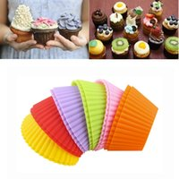 Wholesale 500pcs High Quality Round shape Silicone Muffin Cases Cake Cupcake Liner Baking Mold Bakeware Maker Mold Tray Baking ZA0468