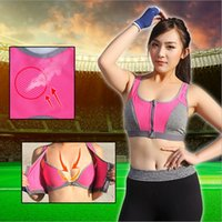 Wholesale The new fashion Lady Women Shockproof quickly dry Sports Bra Tank Top Fitness Yoga Padded Stretch Workout Hot Sales factory price