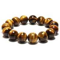 Wholesale AAAAAA natural Yellow Tiger Eye crystals bracelet big beeds for women and men couples lovers girlfriend lucky Buddha stone jewerly gift