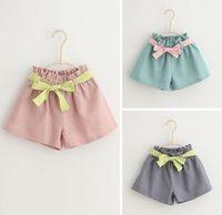 Wholesale Kids Girls Bow Shorts New Baby Girl Wide Leg Short Pants Princess Hot Pants Girls Trousers Children s Clothing SD1155