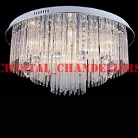 beach dining - Modern LED Crystal Chandelier lighting For Beach House Bedroom Dining Room AC110 V LED Crystal Ceiling Lamps Fixtures