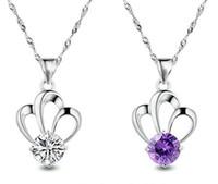 Cheap Korean European Heat Sell An Crown Crystal Fashion Zircon Pendant New Pattern Accessories Alloy Jewelry
