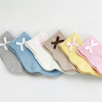 baby bow socks - Baby Kids Cotton Socks Spring Autumn Cute Bow Socks Years Old Girls Boys Socks Walking Children Socks Clothing Colors