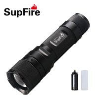 Wholesale SupFire F3 led zoomable flashlight torch using AAA or lithium lm lm mini rechargeable led adjustable torch