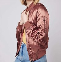 Wholesale Autumn and winter the new foreign trade dress cotton satin coat and MA1 thick baseball uniform jacket ladies flying clothing