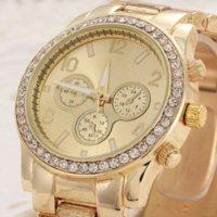 al por mayor reloj de lujo ohsen-Las pulseras ocasionales de la manera de las mujeres atan el reloj de lujo de las señoras del reloj del cuarzo de la correa El reloj barato ohsen