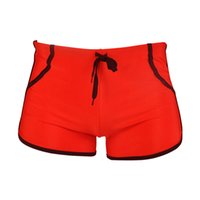Wholesale New Swimming Trunks Summer Boxer Shorts Fitness Gym Sportswear Surf Thong Bottoms Beach Wear Red Black Compression Shorts