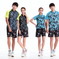 Wholesale New Li Ning Table Tennis suit lining table tennis shirt pinngpong sports shirt Women Men Table soprtswear AB